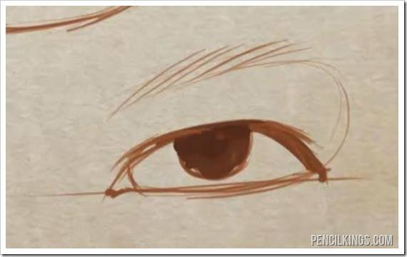 draw a realistic eye male eye drawing