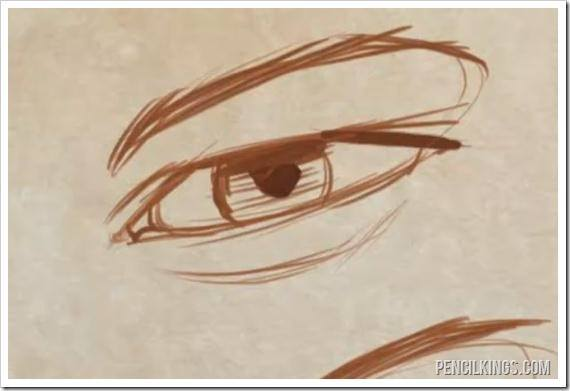 how to draw realistic eyes thin eye shape