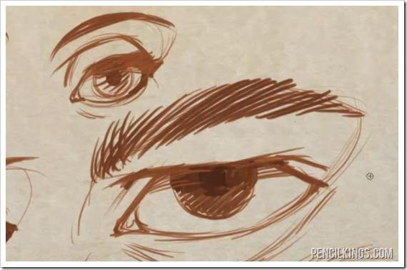 drawing the eye creases example sketch
