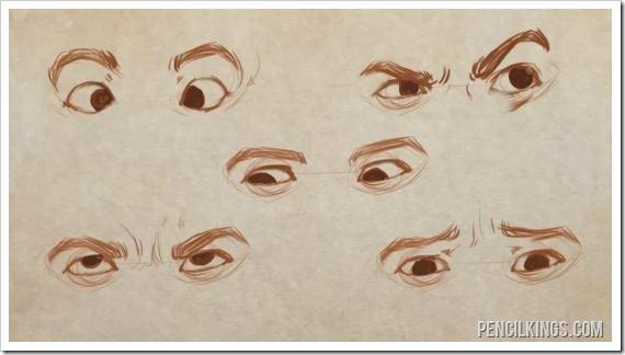 draw realistic eyes different directions drawing