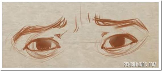 how to draw eyes fear in eyes sketch