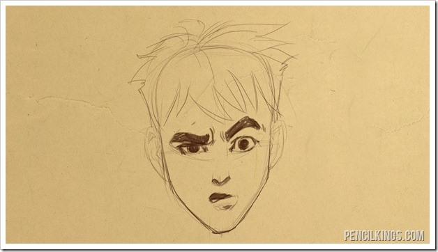 drawing a confused face finished sketch