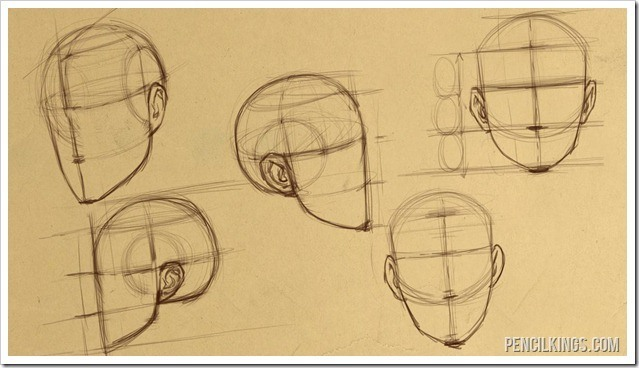 How to draw heads different views of heads