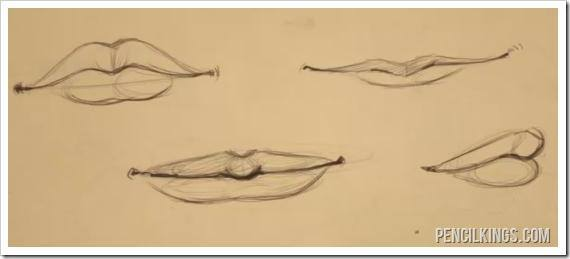 drawing lips sketches of different lips