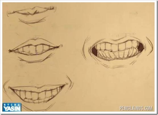 draw a mouth tutorial smiling mouths