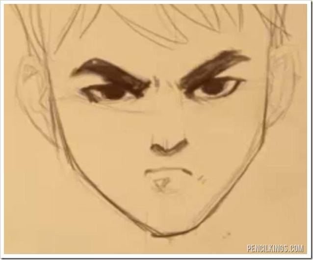 drawing an angry face angry mouth