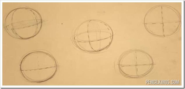 drawing head shapes dividing spheres
