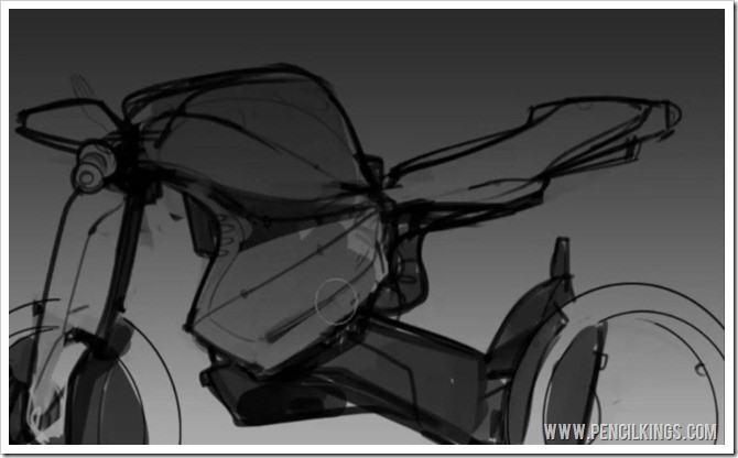 how to draw motorcycles basic shading