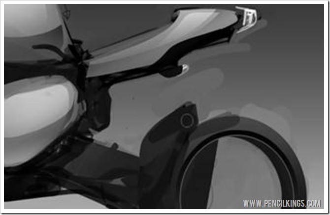 how to draw a realistic motorcycle adding shadow