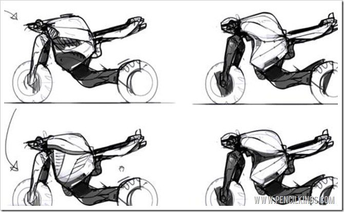 how to draw a motorcycle thumbnail sketches