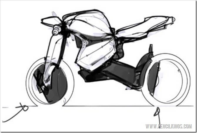 drawing vehicles motorbike shapes