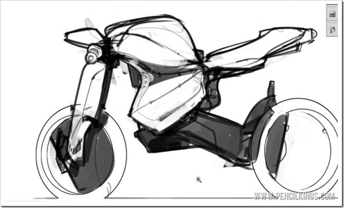 drawing motorcycles shading