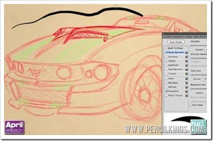 drawing pictures of cars brush sizes
