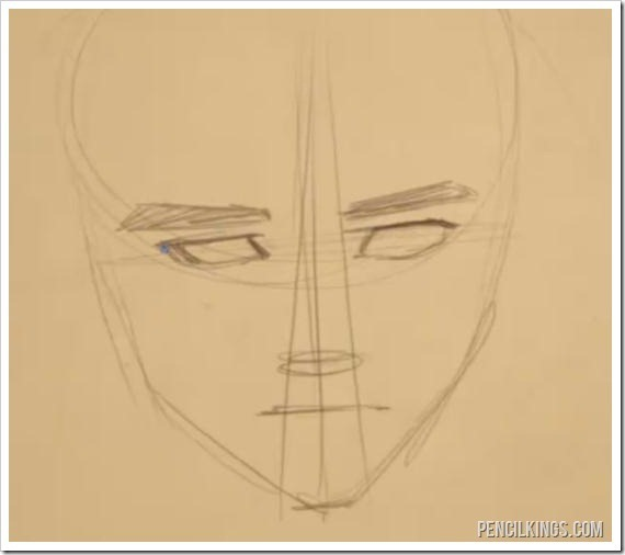 drawing expressions face construction sketch