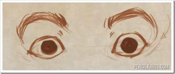 how to draw eyes shocked expression