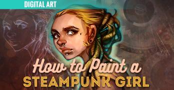 Steampunk Girl Character Concept Art