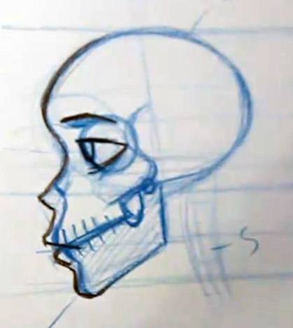 Drawing skin over the skull