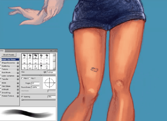 painting a pin-up girl legs