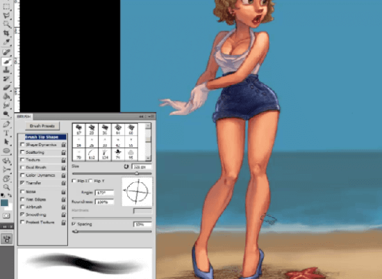 how to paint pin up girls painting sea