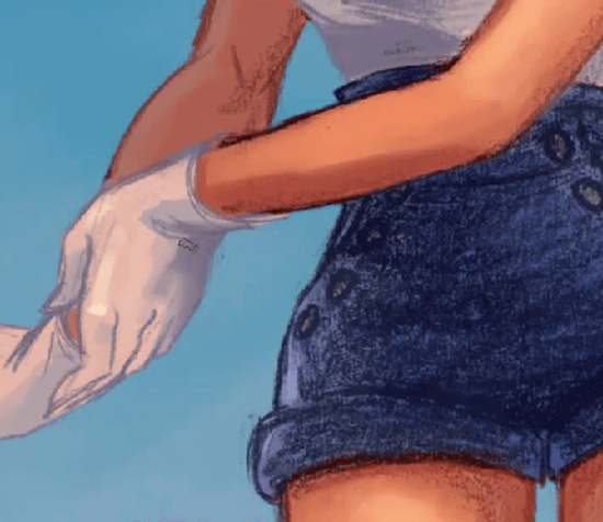 paint a pin-up sailor girl clothing details