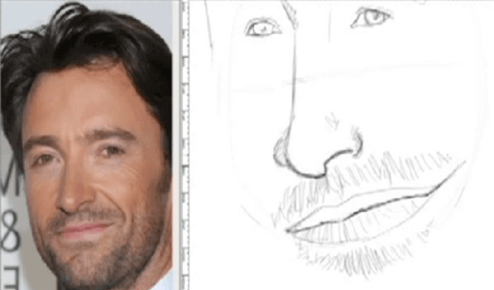 how to do a caricature hair and stubble