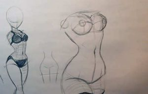 how to draw pin ups nipple placement