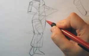 drawing a geisha leg position