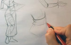 draw a geisha girl waist band