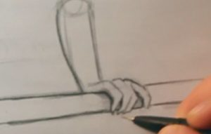 draw realistic hands hand gripping pole