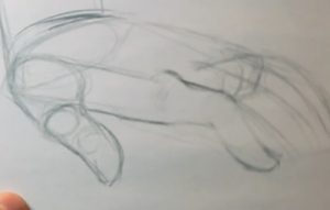 draw hands and feet fingertips