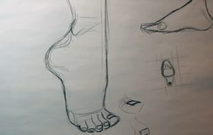 how to draw shoes feet shape