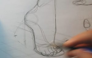 drawing shoes parts of a shoe