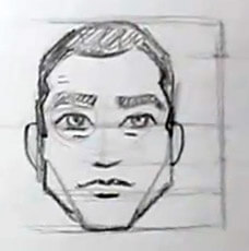 cartoon male faces front view