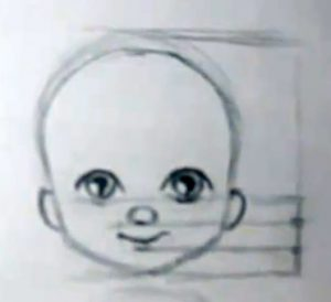 how to draw babies face proportions