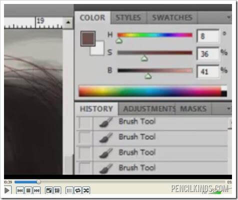 how to draw hair color adjustment