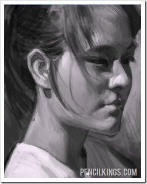 painting portraits using photoshop final painting
