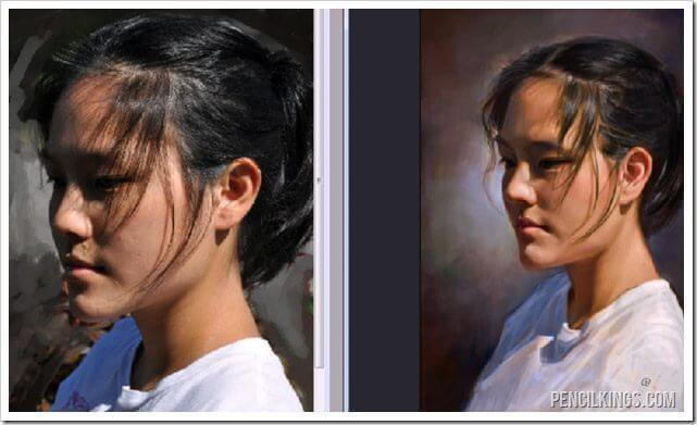 portrait painting in photoshop reference photos