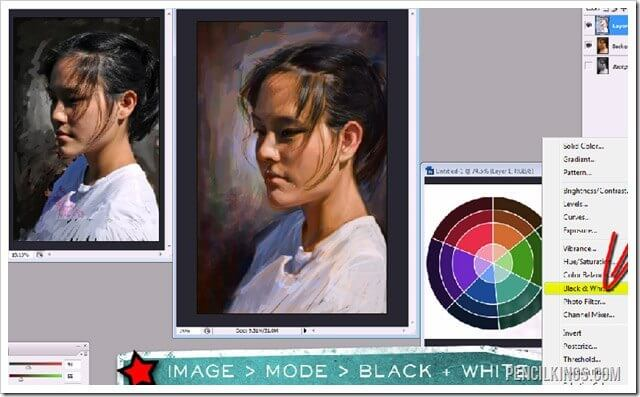 portrait painting tutorial color layers