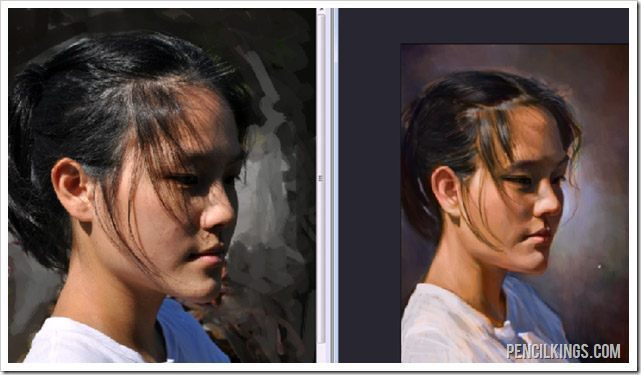 paint realistic portraits photo reference
