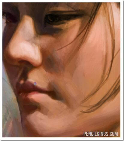 painting portraits in photoshop rendering