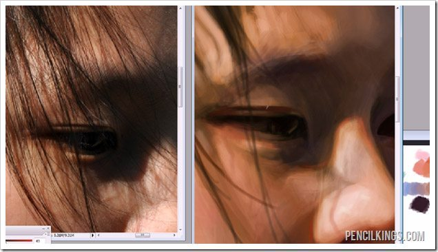 paint portraits in photoshop reference