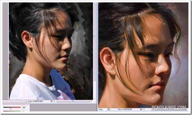 painting portraits in photoshop adding details