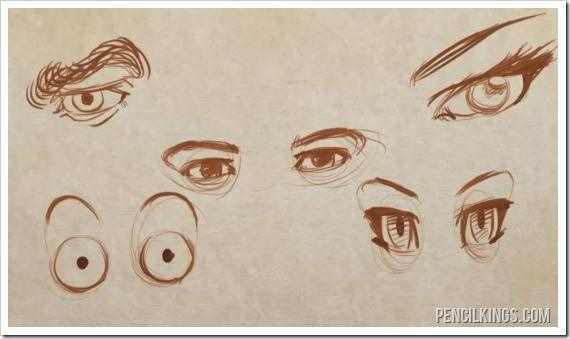 how to draw an eye different eye styles