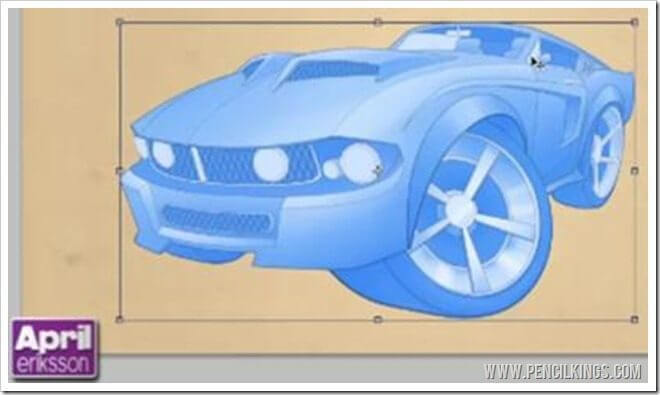 Car Caricature Color | 04 |The Key to Color Rendering 2 mustang col key 03 1