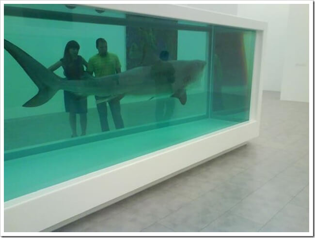 most shocking art damien hirst shark