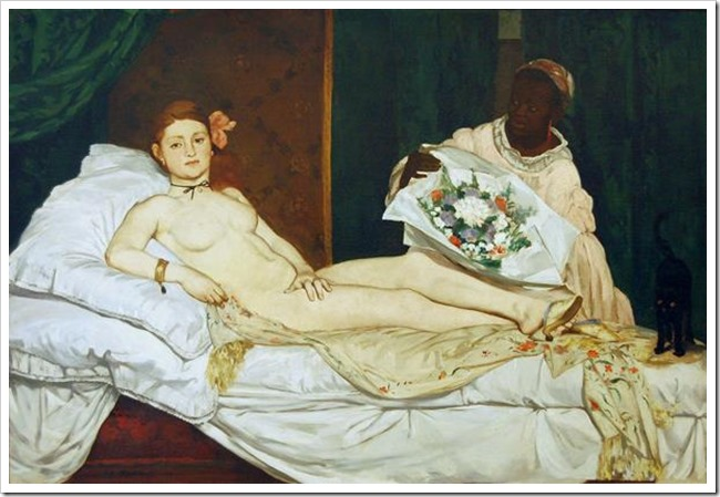 most shocking art olympia manet