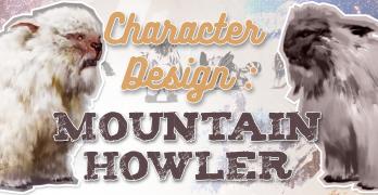 Mountain Howler Creature Concept Art