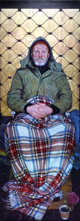 Man-With-a-Plaid-Blanket-by-Thomas-Ganter