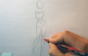 Pin Up Sailor Girl | 01 |How to Draw a Pose 1 PIN 01 01