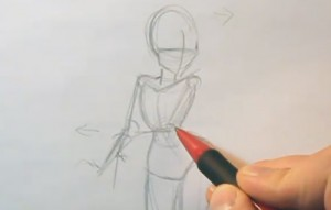 Pin Up Sailor Girl | 01 |How to Draw a Pose 2 PIN 01 02
